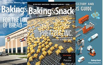 Baking and Snack Magazine Cover with Pretzels during Automated Sorting