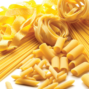 Multiple Different Types of Dry Pasta