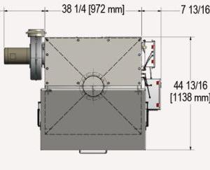 Bag Dump Top of Machine Measurements