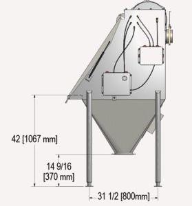 Bag Dump Machine Side Measurements