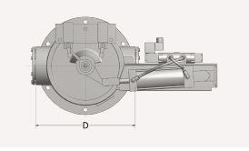 Bottom Diverter Valve Top Measurement