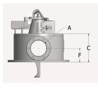 Bottom Diverter Valve Front Measurement View