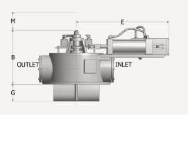 Bottom Diverter Valve Side Measurements and Outlet/Inlet Labeling