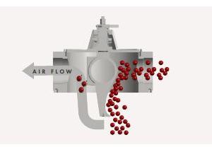 Bottom Diverter Valve Airflow in Divert Position