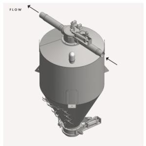 Bottom Diverter Valve General Assembly Airflow