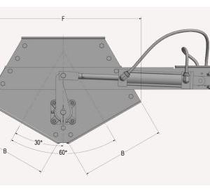 Schematics of Gravity Diverter Side View