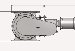 Rotary Valve Airlock Schematic Side View