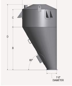 Eccentric Scale Hopper Side View Schematic