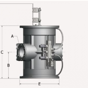 Tube Selector Valve Side View Schematic
