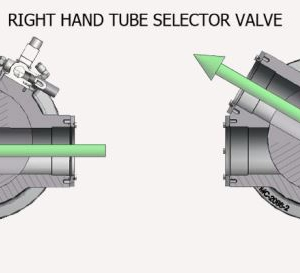 Tube Selector Valve Right Hand Pipe Positioning