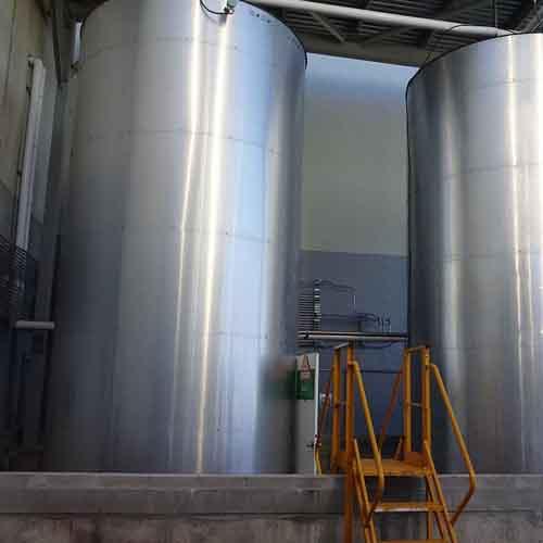 Two Steel Storage Silos