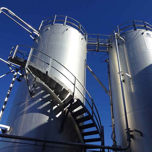 Two Silos with Staircase