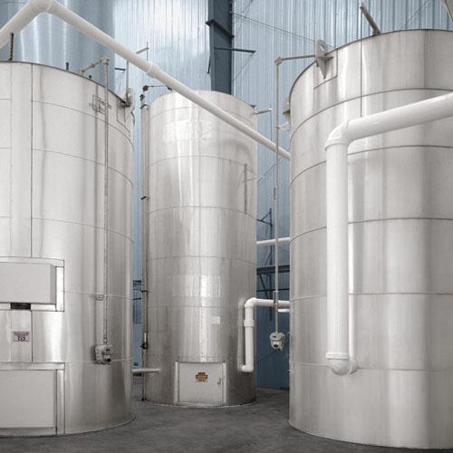 Three Liquid Storage Silos
