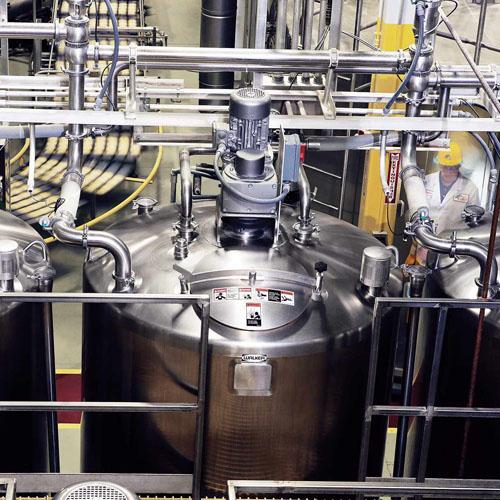 Liquid Storage Silo hooked up