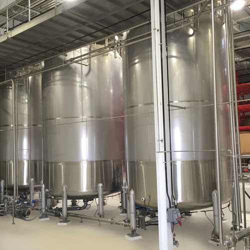 Three Storage Silos Inside