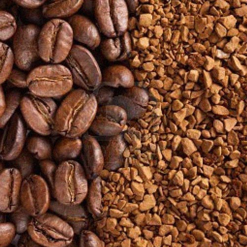 Coffee beans near Instant Coffee