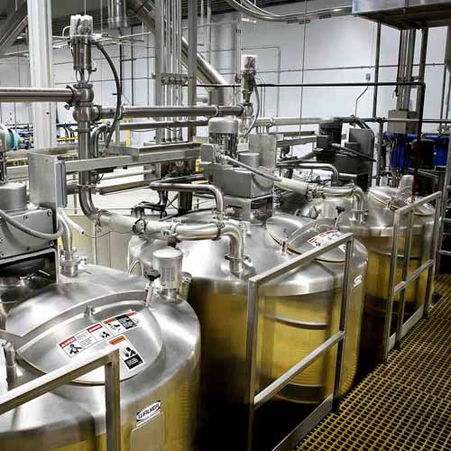 Three Liquid Storage Vats