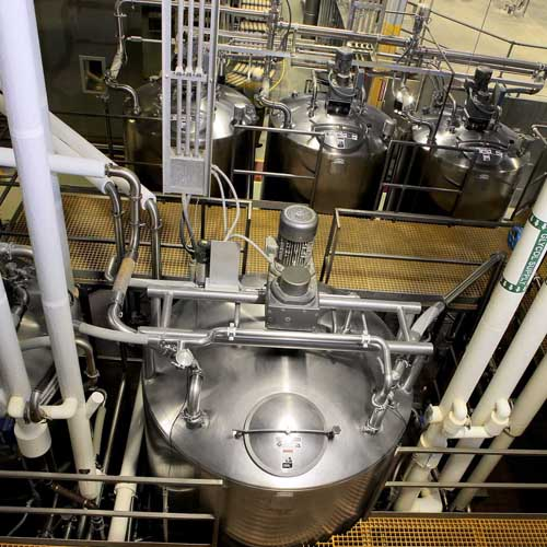 Five Liquid Storage Vats