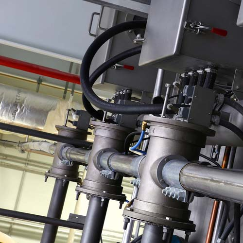 Close up of Valves hooked to Tanks and Switches