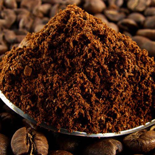 Ground Coffee on Spoon