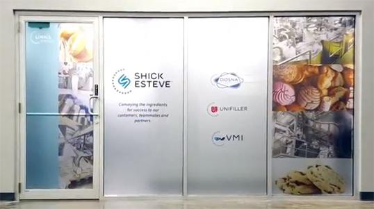 Shick Esteve and Diosna Logo on doors