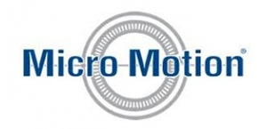 Micro Motion Blue and White Logo