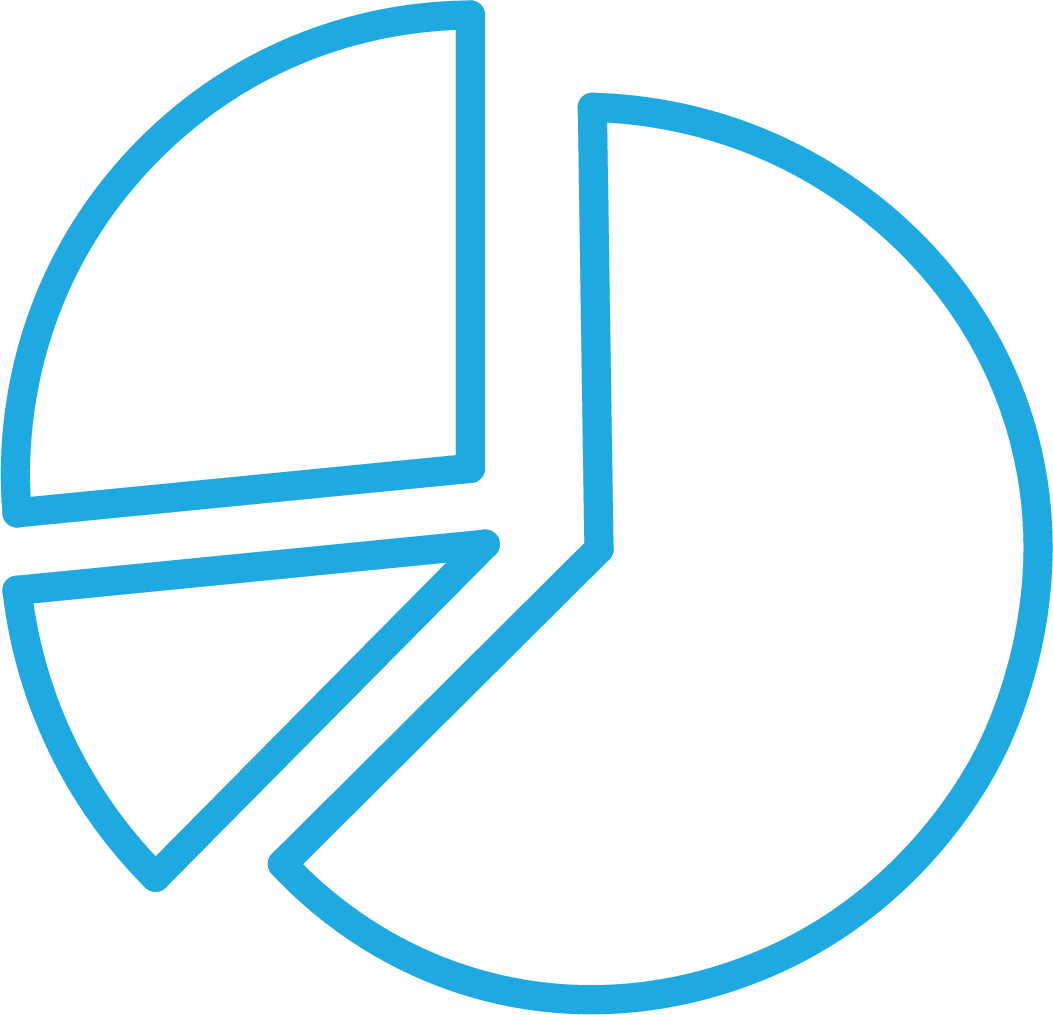 Blue Pie Chart Logo